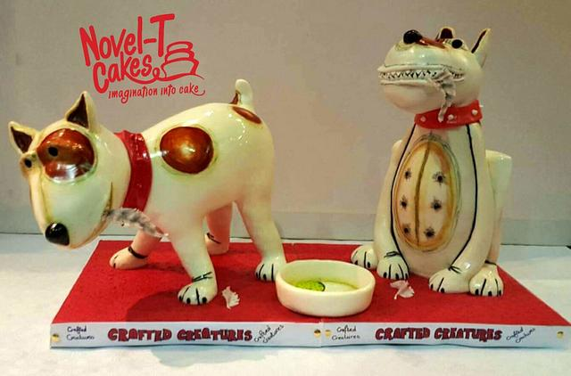 Pottery pooches cake - The Ark's 21st birthday collaboration