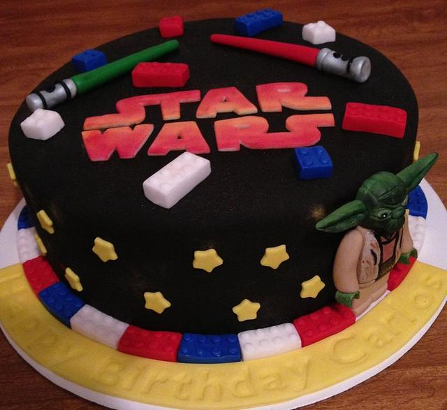 Outstanding Lego Star Wars Birthday Cake Cake By Jennifer Duran Cakesdecor Funny Birthday Cards Online Fluifree Goldxyz