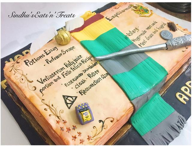 Harrypotter spell book cake