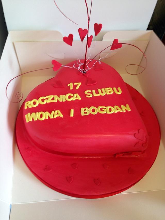 Anniversary cake in polish