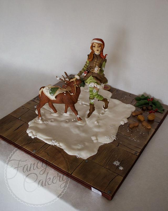 Christmas elf girl