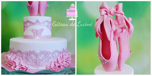 Cake With Ballerinas