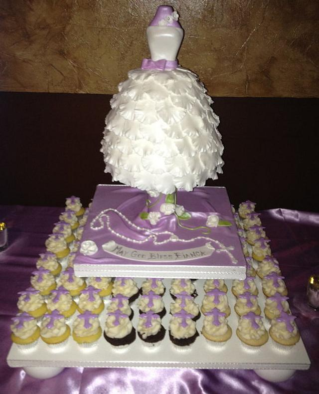 Confirmation Dress Cake
