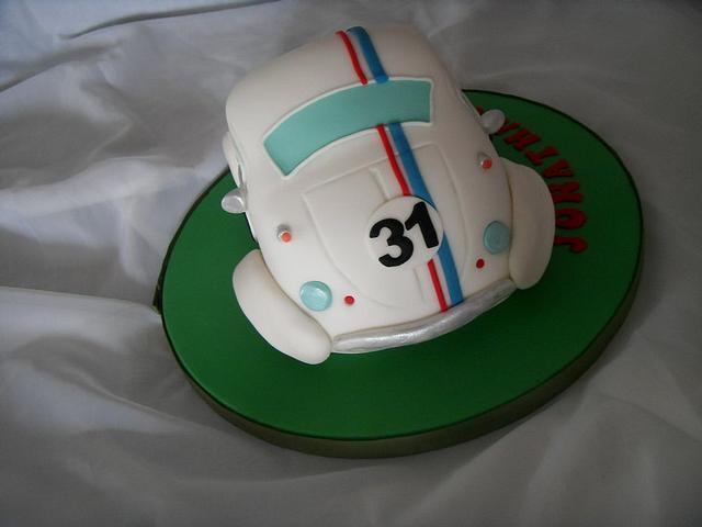 Amazing Herbie 31St Birthday Cake Cake By Christine Cakesdecor Funny Birthday Cards Online Barepcheapnameinfo