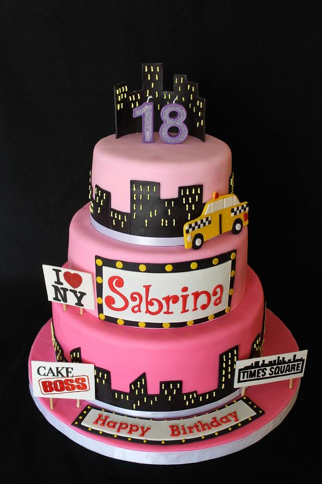 Incredible Nyc Themed Birthday Cake Cake By Sweet Shop Cakes Cakesdecor Personalised Birthday Cards Paralily Jamesorg