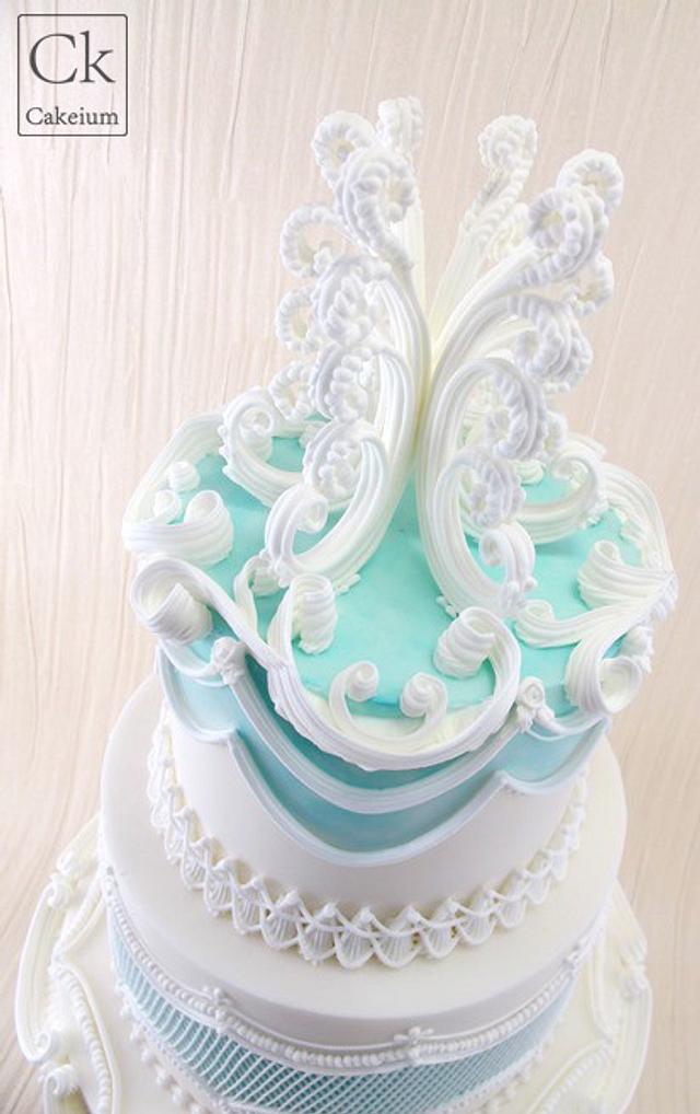 Lambeth Inspired Wedding Cake