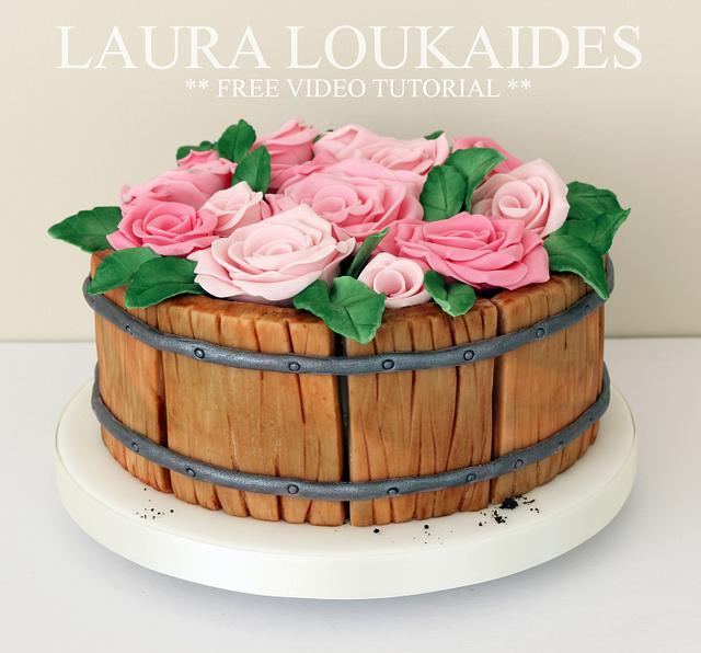 Flower Barrel Cake