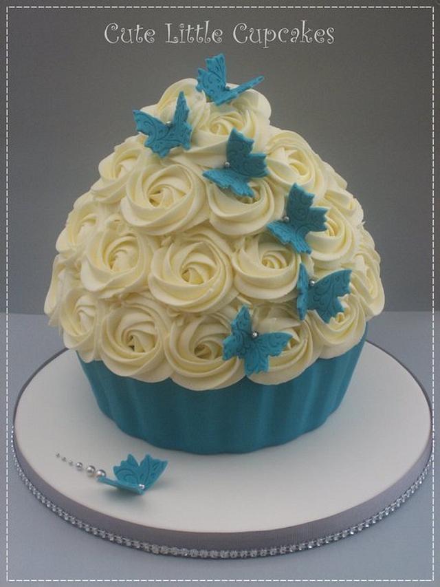Teal Wedding Cupcakes