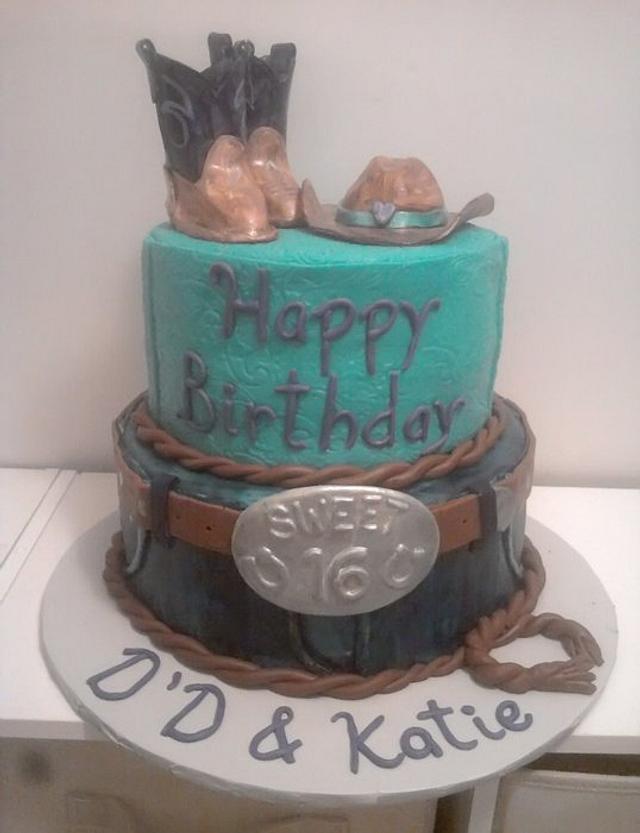 Sweet 16 Cowgirl Cake