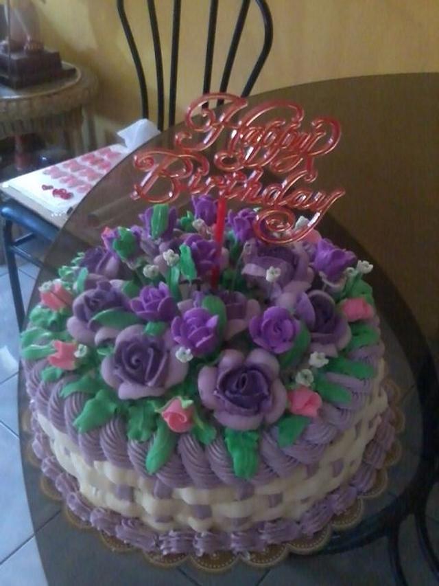 basket of flower