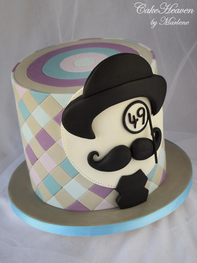 Moustache Birthday Cake