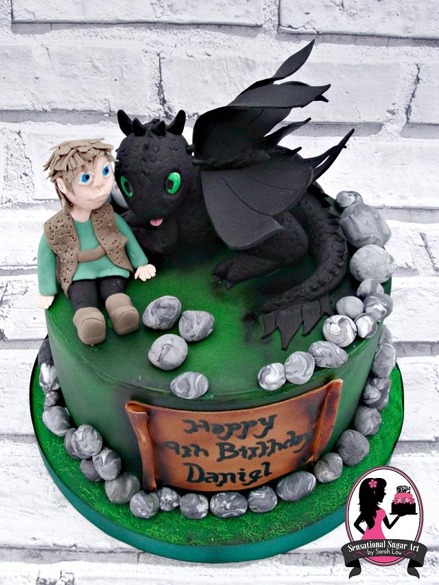 How to Train your Dragon Themed Cake
