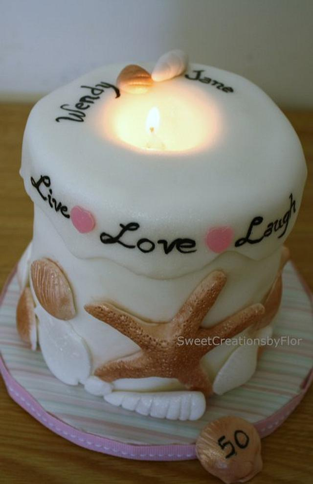 Seashell Candle Cake