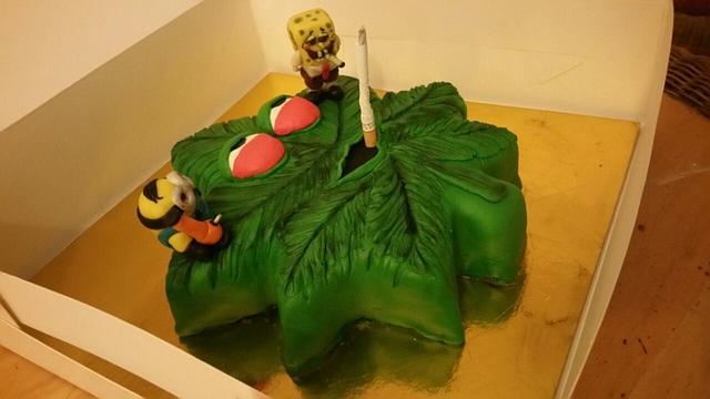 A leaf shaped cake