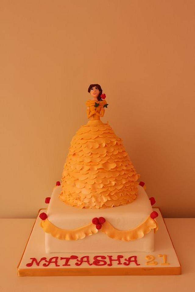 Belle two tier cake