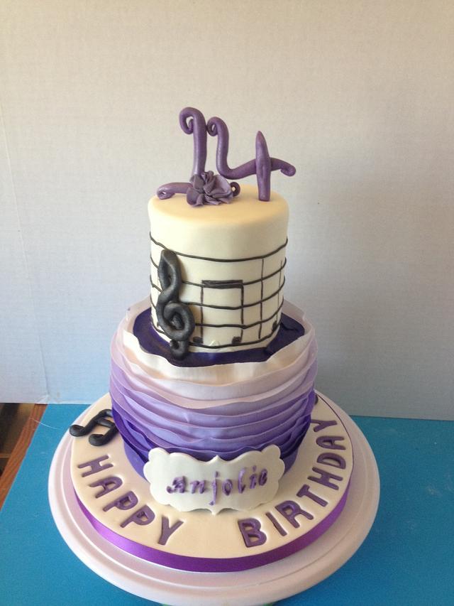 Amazing Music Themed Birthday Cake Cake By Simply Superb Cakes Cakesdecor Funny Birthday Cards Online Alyptdamsfinfo