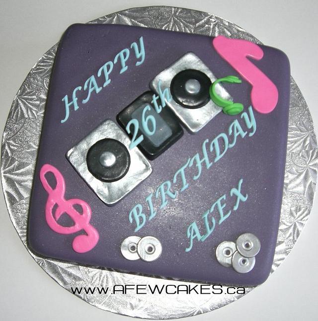 Phenomenal Dj Birthday Cake Cake By Amanda Cakesdecor Personalised Birthday Cards Cominlily Jamesorg