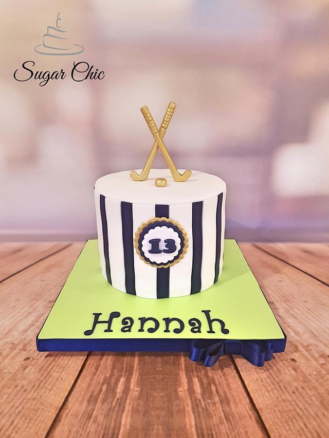 Awe Inspiring Field Hockey Birthday Cake Cake By Sugar Chic Cakesdecor Personalised Birthday Cards Petedlily Jamesorg
