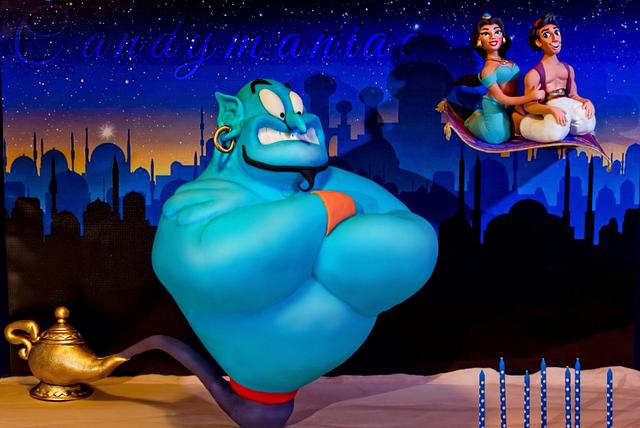 Genie, Aladdin and Jasmine cake