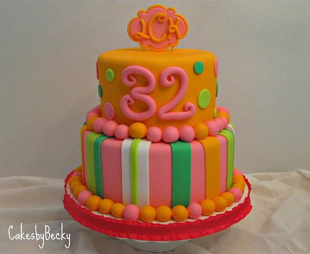 Enjoyable Bright Whimsical Birthday Cake Cake By Becky Cakesdecor Funny Birthday Cards Online Alyptdamsfinfo