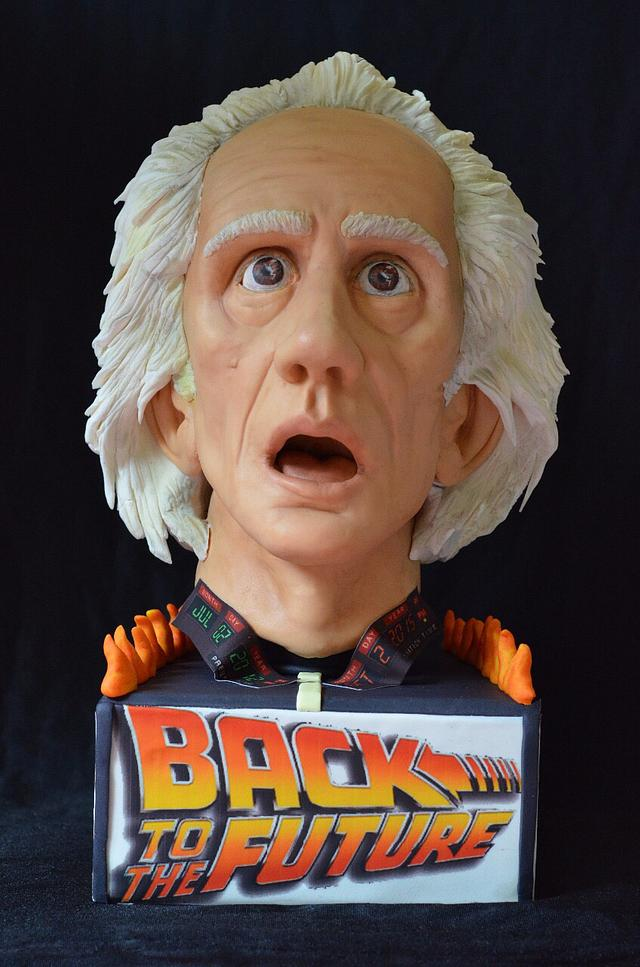 Cakeflix Collaboration.  Dr.Emmett Brown-Back to the Future