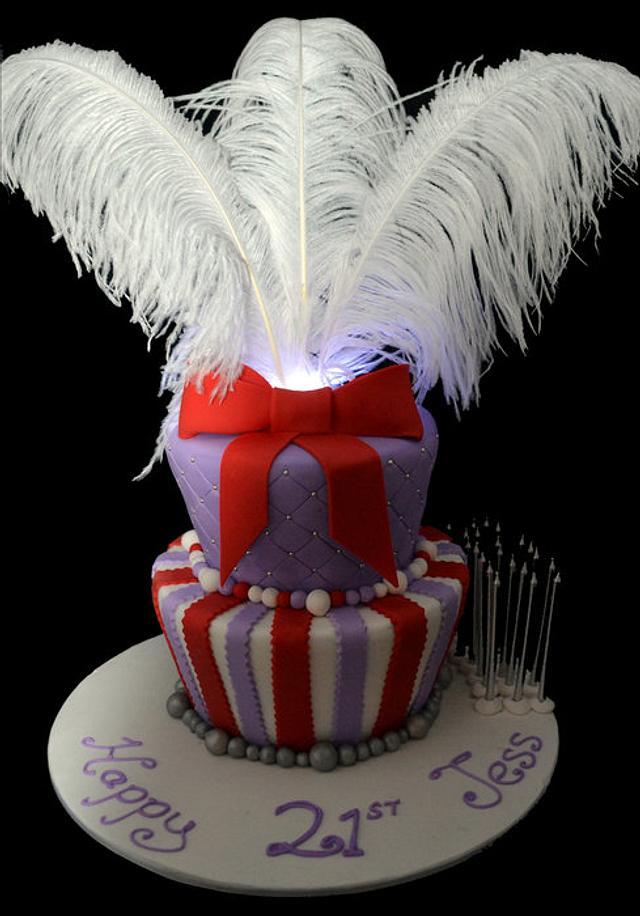 Funky 21st Cake