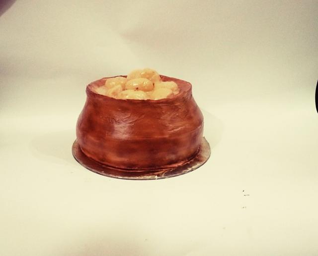 Rasmalai whipped cream pot