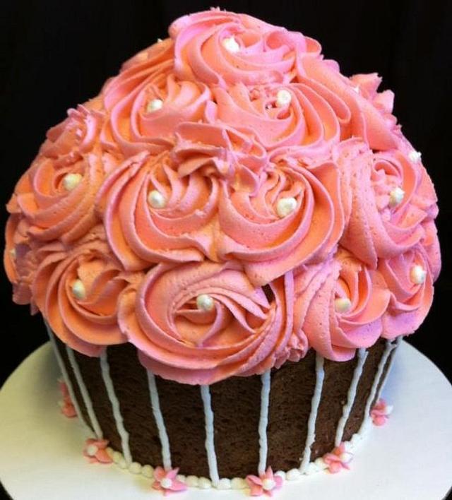 1st Birthday Giant Cupcake