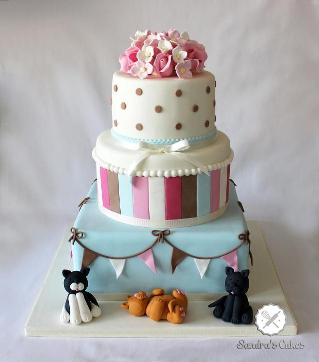 cat lovers wedding cake