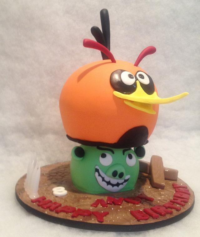 Bubbles - Angry birds cake