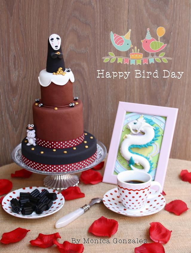 Studio Ghibli Cake Collaboration by Happy Bird Day.