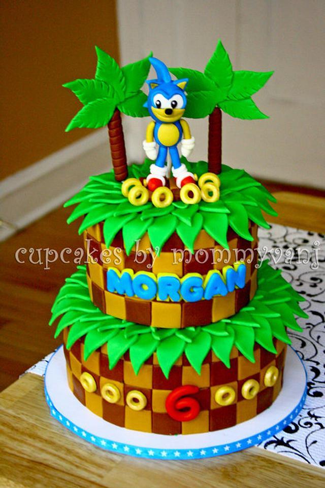 Marvelous Sonic The Hedgehog Birthday Cake Cake By Vangie Cakesdecor Personalised Birthday Cards Veneteletsinfo