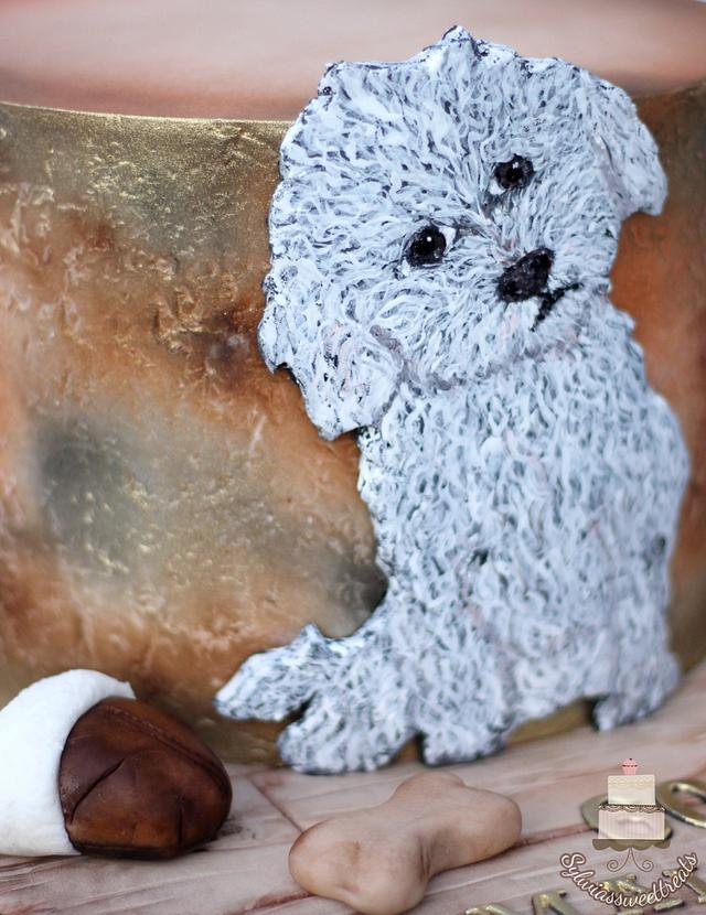 Hand painted bichon frese