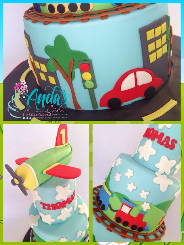 Planes, Trains & Automobiles Cake