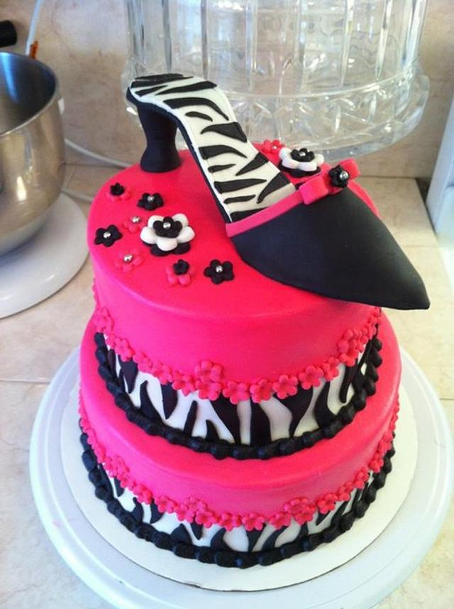 diva shoe cake