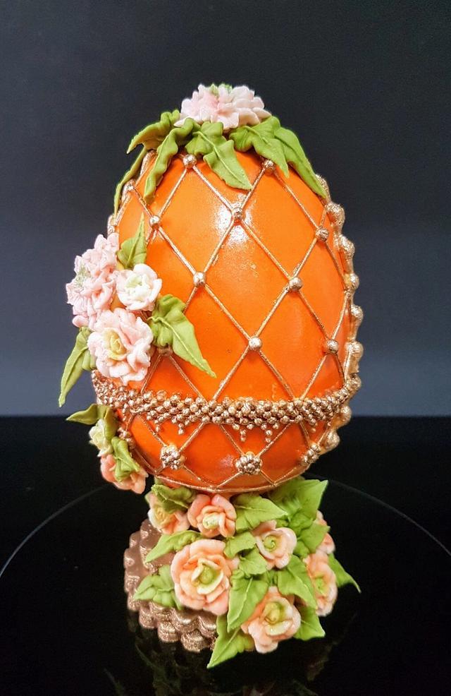 Huevo estilo Fabergé para la colaboración de huevos estilo Fabergé