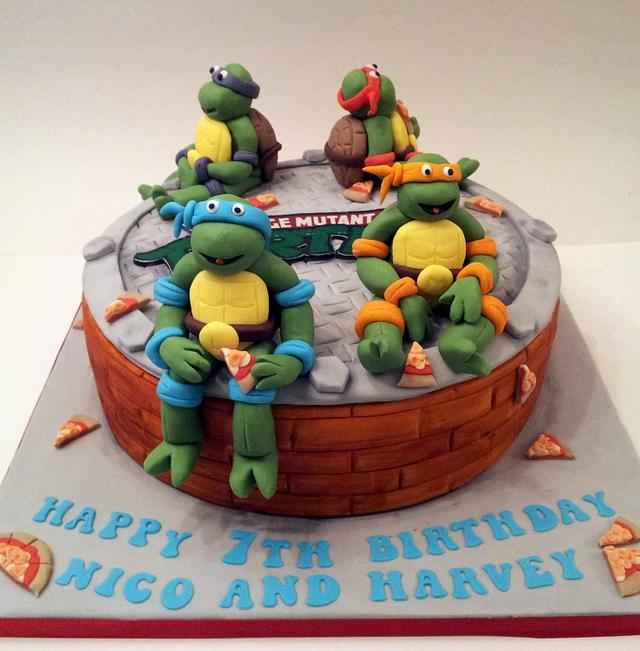 Pleasing Ninja Turtle Birthday Cake Cake By Sarah Poole Cakesdecor Funny Birthday Cards Online Fluifree Goldxyz
