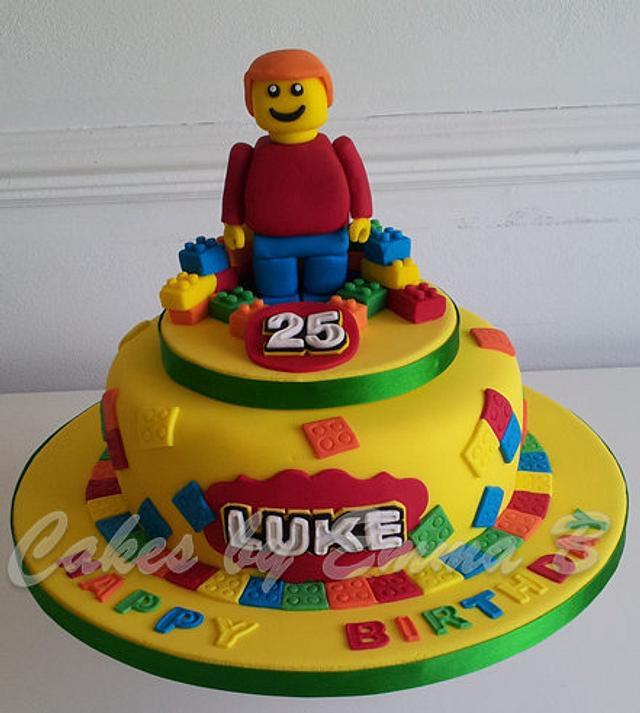 Awe Inspiring Lego Themed Birthday Cake Cake By Cakesbyemmab Cakesdecor Funny Birthday Cards Online Fluifree Goldxyz
