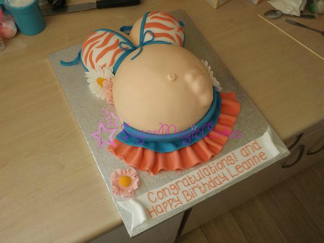 birthday and baby shower cake