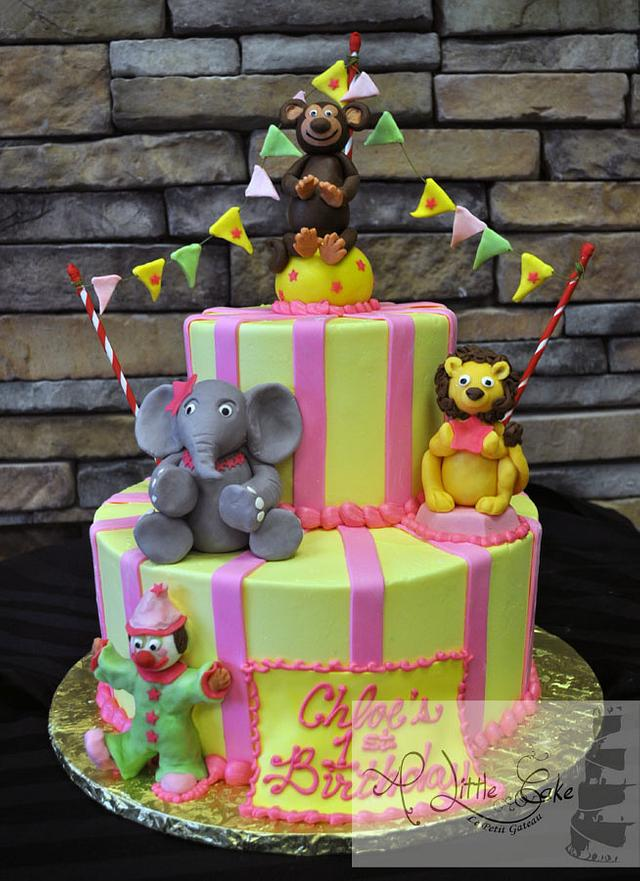 1st Birthday Circus Themed Cake | A Little Cake