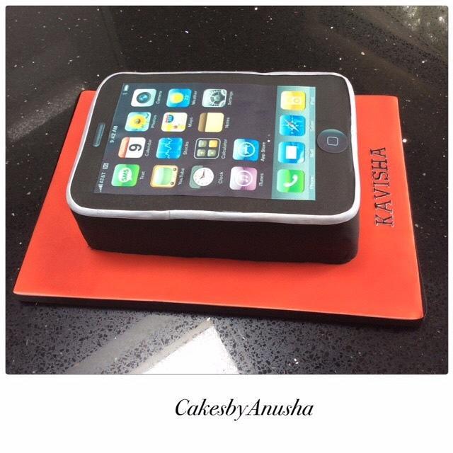 I phone birthday cake
