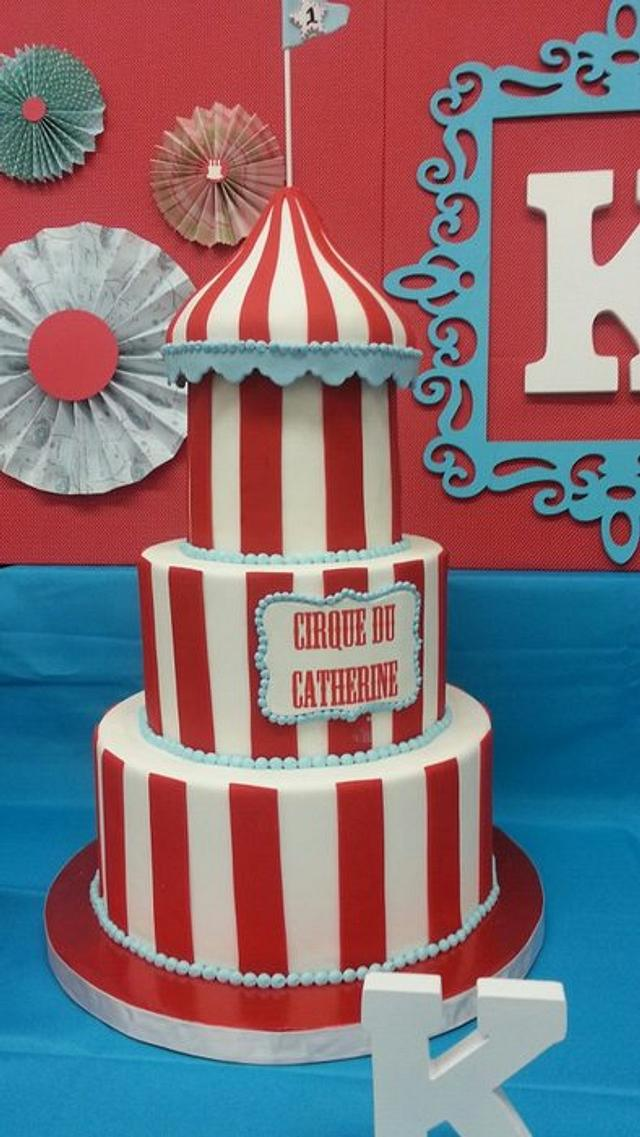 Tremendous Carnival Themed Bday Cake Cake By Ester Siswadi Cakesdecor Personalised Birthday Cards Paralily Jamesorg