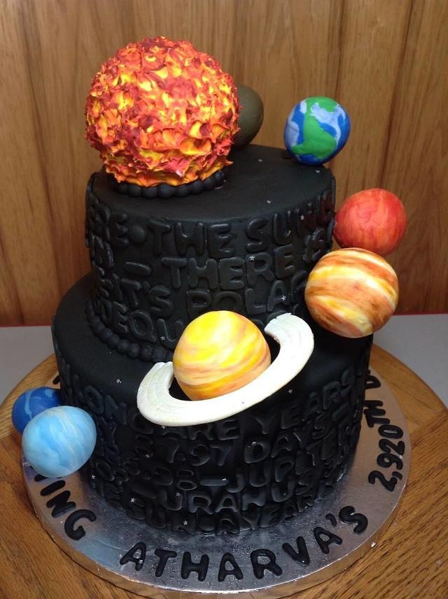 Solar System statistics cake