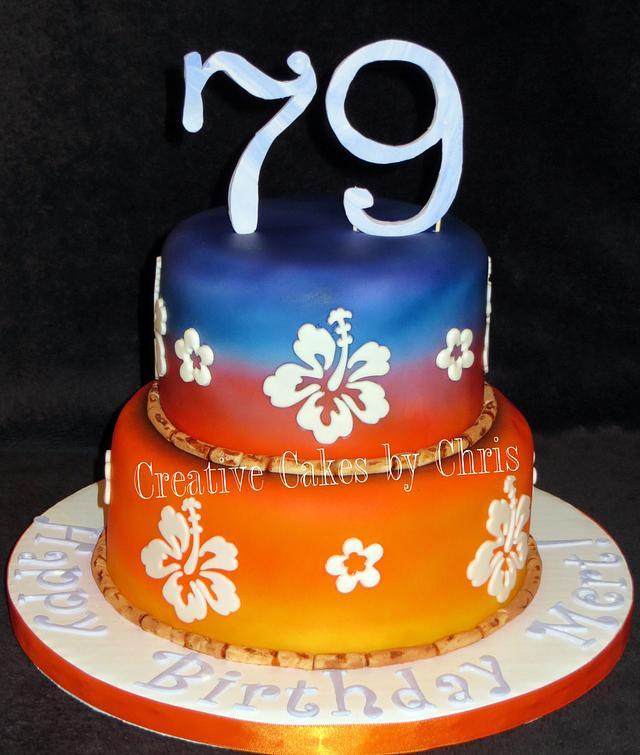Hawaiian Theme 79th Birthday