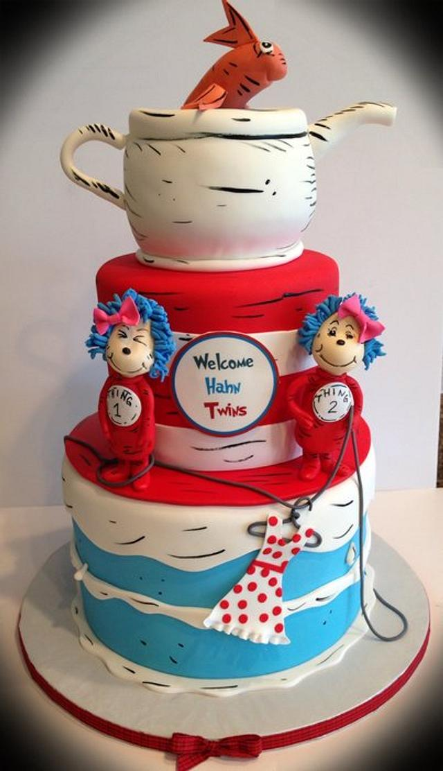 Outstanding Thing 1 Thing 2 Cake By Skmaestas Cakesdecor Funny Birthday Cards Online Necthendildamsfinfo