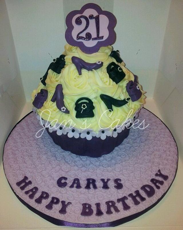 Giant Cupcake 21st Birthday