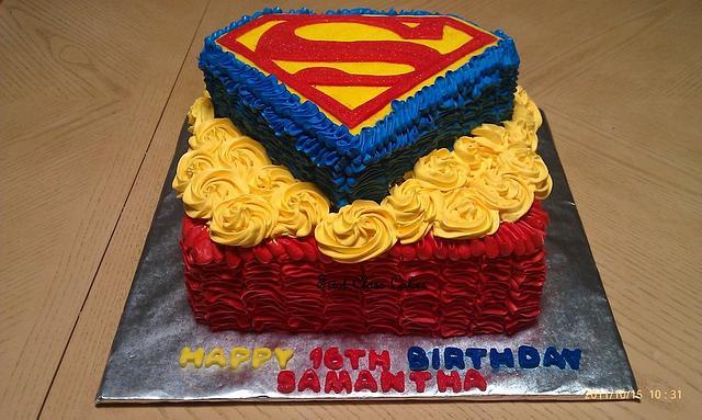 My 1st superman cake