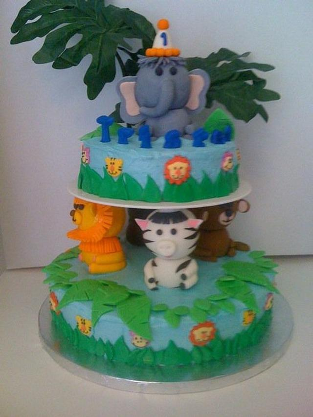 Safari cake (Wilton inspired)