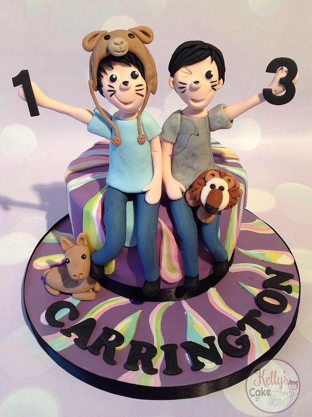 Dan & Phil Phandom cake