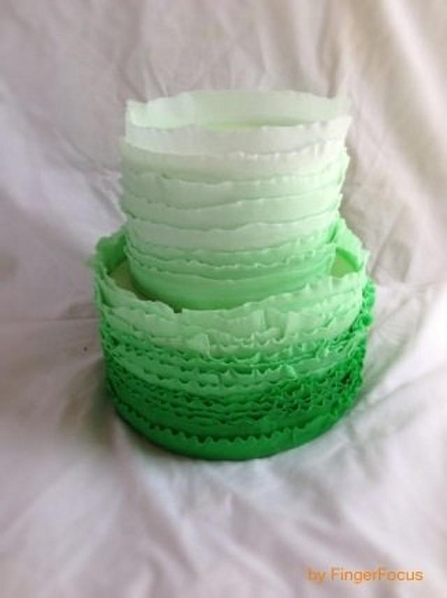 St Patricks Ruffle Cake